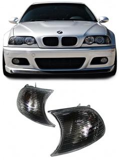 Schwarze Blinker Kristall für BMW 3ER E46 Coupe + Cabrio 98-01