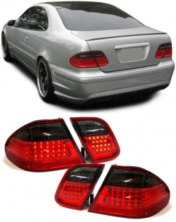 LED Rückleuchten rot schwarz für Mercedes CLK W208 97-02