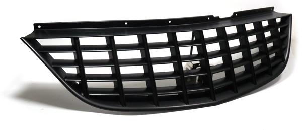 Grill Sport Kühlergrill ohne Emblem schwarz für Opel Corsa D 06-10