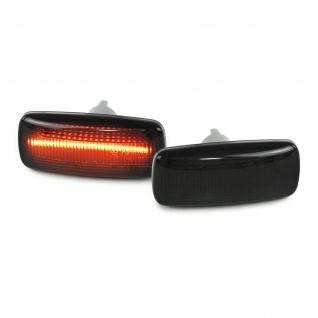 LED Lightbar Seitenblinker schwarz für Audi A2 8Z A3 8L A4 B5 A6 C5 A8 TT 8N