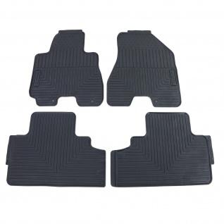 Premium Gummi Fußmatten Set 4-teilig Schwarz für Hyundai Tucson JM 04-12