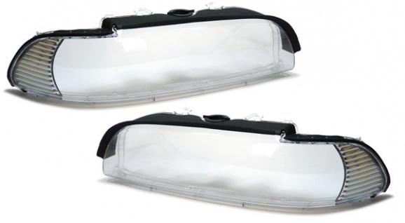 Facelift Streuscheiben Scheinwerfergläser weiße Blende für BMW 5er E39 00-03