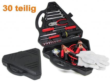 Bordwerkzeug Notfall Werkzeugsatz Überbrückungskabel universal 30 teilig