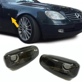 Klarglas Seitenblinker schwarz chrom für Mercedes Sprinter Vito W210 SLK R170