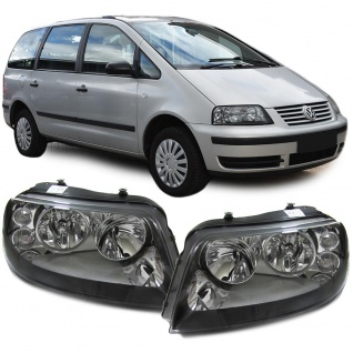 Scheinwerfer schwarz Paar für VW Sharan 7M 00-10 Seat Alhambra 7V 00-10