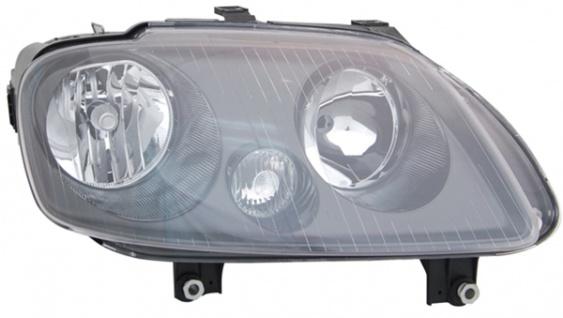 H1 / H7 Scheinwerfer schwarz rechts TYC für VW Touran 1T 03-06