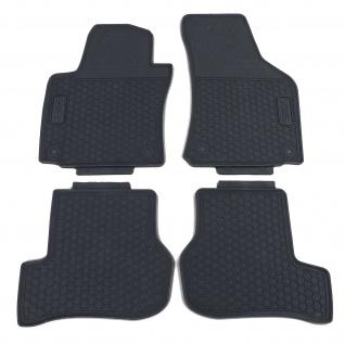 Premium Gummi Fußmatten Set Schwarz für VW Golf 5 Limousine Variant 03-09