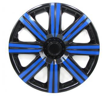 Radkappen Radzierblenden für Stahlfelgen Set Tenzo-R II 14 Zoll schwarz blau - Vorschau 3