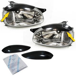 Scheinwerferblenden Set mit ABE für Opel Corsa B 93-00 - Vorschau 2