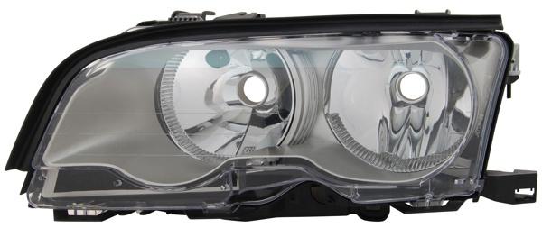 H7 / H7 SCHEINWERFER TITANIUM LINKS TYC FÜR BMW 3ER Coupe Cabrio E46 01-03