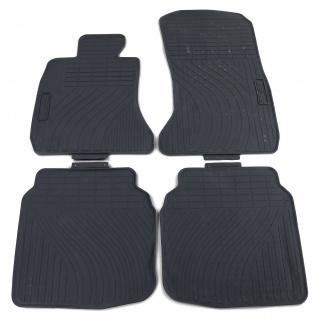 Premium Gummi Fußmatten Set 4-teilig Schwarz für BMW 7er F01 08-15