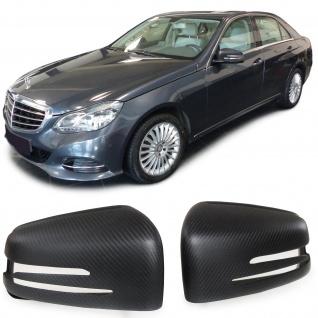 Carbon matt Spiegelkappen zum Austausch für Mercedes E Klasse W212 S W221 GLA