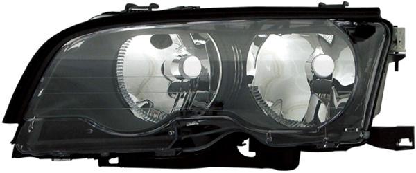 H7 / H7 Scheinwerfer schwarz links TYC für BMW 3ER Coupe Cabrio E46 01-03