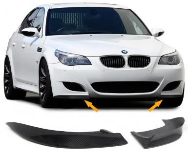 Front Flaps Splitter Cup Wings Spoiler Echt Carbon für BMW 5er E60 E61 03-07