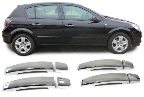 TÜRGRIFF BLENDEN ABDECKUNGEN COVER CHROM FÜR Opel Antara Astra H ab 04