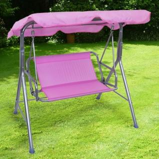 Kinder Hollywoodschaukel Gartenschaukel Outdoor Indoor 2 Sitzer Pink Rosa Silber
