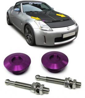 Alu Motorhauben Schnellverschluss Verriegelung Rennsport violett - Vorschau 2