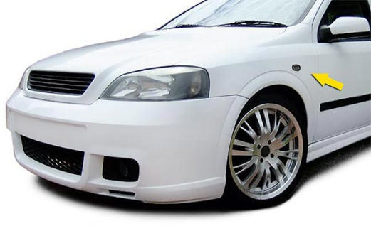 LED Seitenblinker Klarglas schwarz smoke für Opel Astra G 97-04 Zafira A 99-05 - Vorschau 3