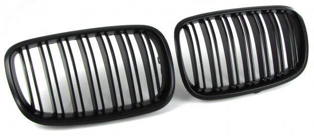 Sport Kühlergrill Nieren Doppelsteg schwarz matt für BMW X5 E70 X6 E71 ab 06