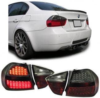 LED RÜCKLEUCHTEN ROT SCHWARZ SMOKE FÜR BMW 3ER E90 Limousine 05-08