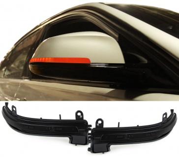 Dynamic LED Spiegel Blinker schwarz für BMW 3er F30 F31 F34 ab 11 I3 I01 ab 13