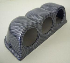 3ER Halterung für 52mm Zusatz Instrument Carbon Look