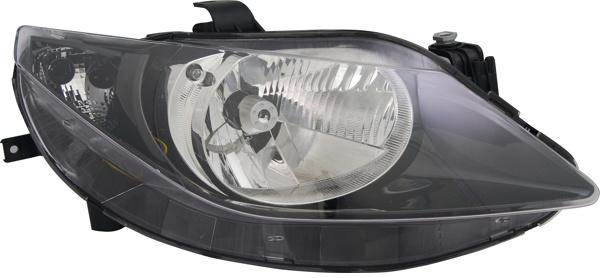 H4 Scheinwerfer schwarz rechts TYC für Seat Ibiza V 6J 08-12
