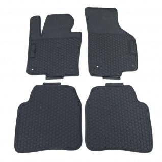 Premium Gummi Fußmatten Set 4-teilig Schwarz für Skoda Superb 3T4 Limo 08-15