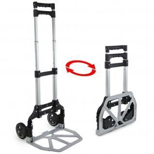 Ramroxx Profi Alu Sackkarre Stapelkarre ausziehbar klappbar bis 75 kg