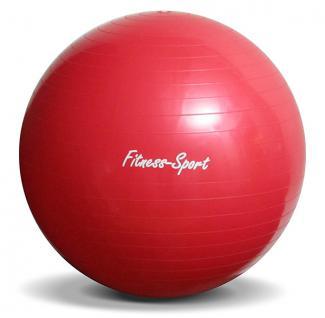 Sport Fitness Gymnastikball Sitz Ball mit Pumpe Größe L 65cm rot - Vorschau 3