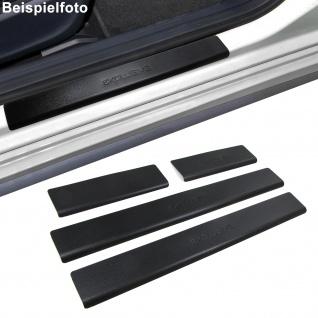 Edelstahl Einstiegsleisten Exclusive schwarz für Peugeot 407 5Türer ab 04