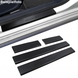 Edelstahl Trittschutz Einstiegsleisten Exclusive schwarz für Peugeot 206 ab 09