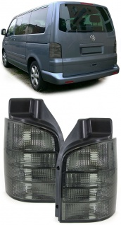 Klarglas Rückleuchten schwarz smoke für VW Bus Transporter Kasten T5 03-09