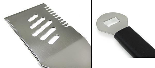 Premium BBQ Grillzange 4 Spiesse Multiwender Grillbesteck Edelstahl 6-teilig - Vorschau 4