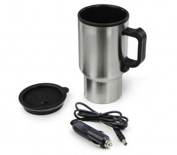 Edelstahl Getränkewärmer Teekocher universal 12 Volt für Kaffee Tee Suppen