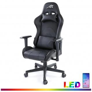Gamingstuhl eSport Chefsessel Stuhl Schreibtisch Sportsitz mit LED Beleuchtung