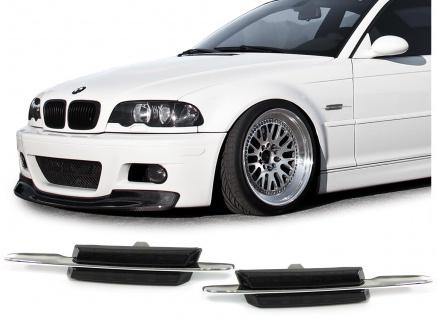 Klarglas LED Seitenblinker schwarz smoke für BMW 3er E46 Coupe Cabrio Limo Kombi