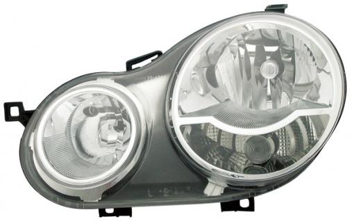 H1 / H7 Scheinwerfer links TYC für VW Polo 9N 01-05