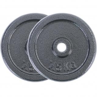 15 kg Hantelscheiben Set 2x7, 5 kg Gusseisen Hantel Gewicht versiegelt 30mm