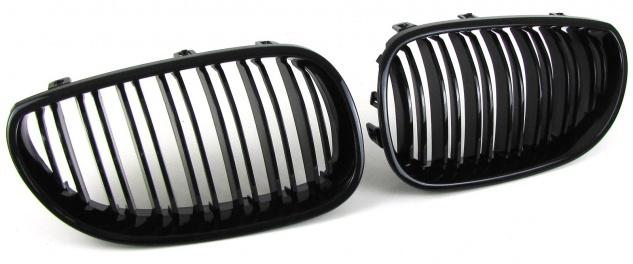 Sport Kühlergrill Nieren Doppelsteg schwarz glänzend für BMW 5er E60 E61 03-10