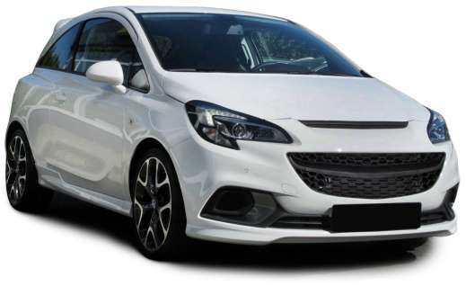 Sport Grill Kühlergrill ohne Emblem schwarz für Opel Corsa E ab 14