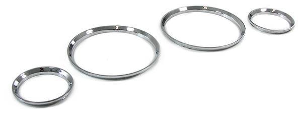 Tachoringe Abdeckungen Blenden 4 teilig chrom für Opel Corsa B 93-02 Tigra 94-00 - Vorschau 3