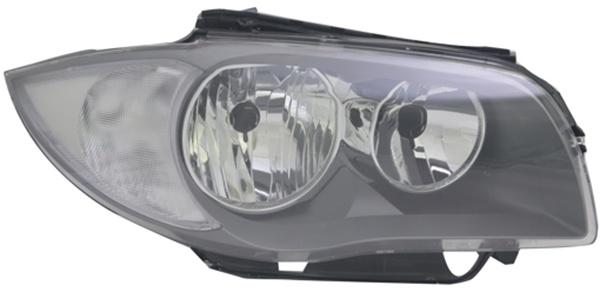 H7 / H7 Scheinwerfer schwarz rechts TYC für BMW 1ER E81 E87 09-12
