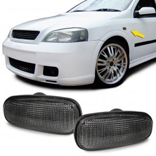 *** Seitenblinker schwarz smoke für Opel Astra G 98-05 Zafira A 99-05