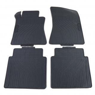 Premium Gummi Fußmatten Set 4-teilig Schwarz für Mercedes S-Klasse W220 98-05