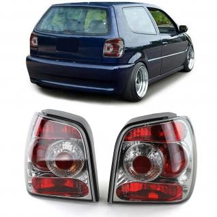 Klarglas Rückleuchten Chrom für VW Polo 6N 94-99