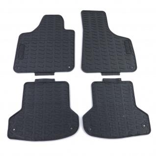 Premium Gummi Fußmatten Set 4-teilig Schwarz für Audi A3 8P 07-11
