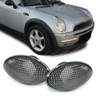 Seitenblinker smoke schwarz Paar für Mini R50 R53 01-06 Cabrio R52 04-08