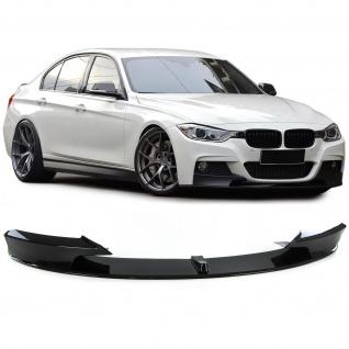 Front Spoiler Lippe Ansatz Performance Look schwarz glanz für BMW 3er F30 ab 11