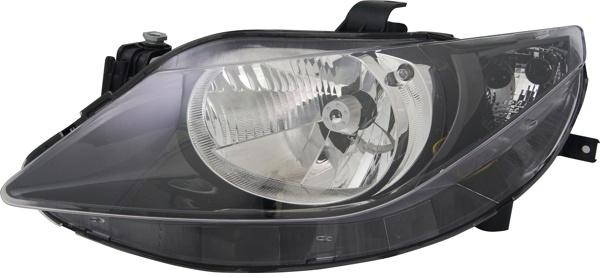 H4 Scheinwerfer schwarz links TYC für Seat Ibiza V 6J 08-12